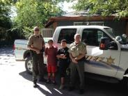 Officers Vetter and Underwood with kids