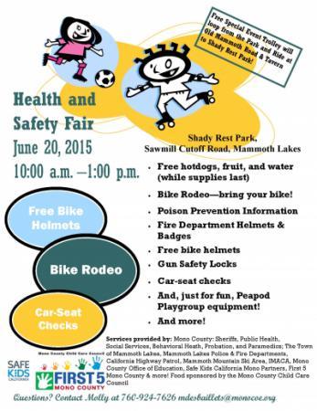 Community Health and Safety Fair flier